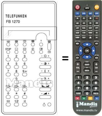 Replacement remote control PALCOLOR 430 S